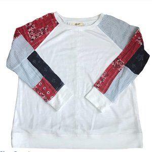 Style & Co Patchwork Bandana Sleeve Shirt NWOT
